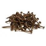 Pack 200 tornillos VBA acero inoxidable A2 Ø5 x 50 mm marrón