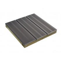compuesto de madera estriada losa de piedra gris