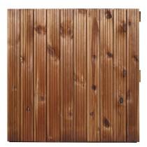 la ley placa ranurada de madera marrón