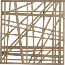 Celosía madera Régalisse clase 4 marron 180x180 cm