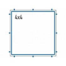 Toile carrée 4x4 Domeo pour pergola bois