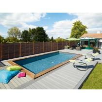 800 piscina rectangular de madera Maéva