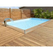 500 piscina rectangular de madera Maéva