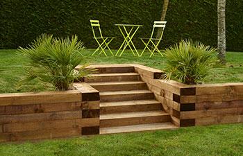 Aménagement de jardin bois technologie Durapin